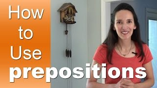 Learn How to Use English Prepositions with JenniferESL - Lesson 1 - Introduction