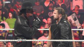 Raw: Shawn Michaels interrupts Triple H and The Undertaker