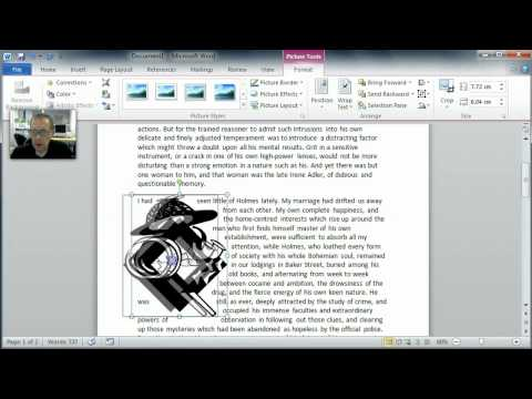 Wrapping text around images in MS Word