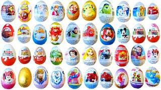 SURPRISE EGGS - 40 surprise eggs DISNEY TOYS FROZEN MINIONS DORY ANGRY BIRDS CARS 101 DALMATIANS