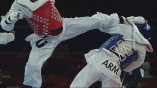 Team GB's Lutalo Muhammad Wins Taekwondo -80kg Bronze - London 2012 Olympics