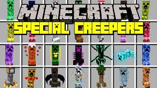 Minecraft SPECIAL CREEPERS MOD! | CREEPERS WITH CRAZY POWERS, & MORE! | Modded Mini-Game