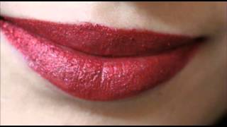 How To Do Glitter Lip Tattoo:Hot Red LIPS Tutorial For Beginners:Lip Tattoo First Impression