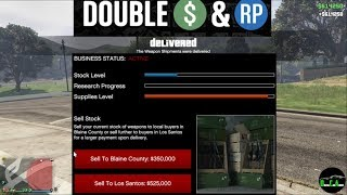 GTA 5 Gunrunning Double $ (Selling SOLO Stock From Bunker $600,000 every 3.5 Hours!)