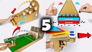 5 Amazing Cardboard Games Compilation
