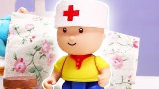 DOCTOR CAILLOU | Funny Animated cartoons Kids | Caillou Stop Motion | Cartoon movie | |만화 漫画