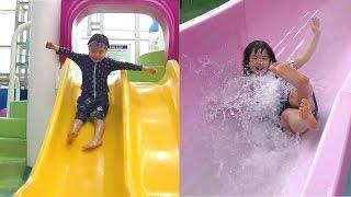 スパワールド 世界の温泉 スパプーキッズ お出かけ ♫ こうくんねみちゃん SPAWORLD Pool Big Slides