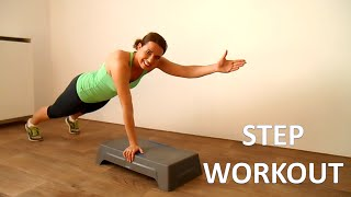 10 Minute Step Workout Routine – Fat Burning Step Up Exercises