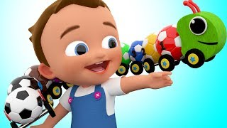 Little Baby Learning Colors & Numbers for Children with SoccerBalls Caterpillar Toy Set Kids Video