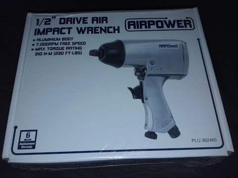 Unboxing - Air Power Air Impact Wrench - 1/2