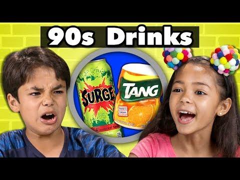 KIDS TRY 90s DRINKS Kids Vs. Food