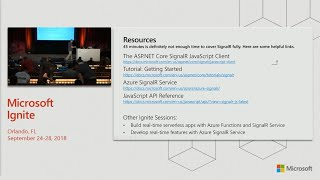 Build real-time web communication apps with ASP.NET Core SignalR - BRK3189