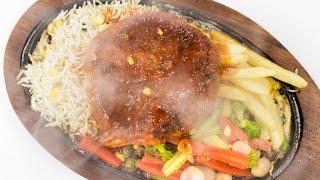 Veg Sizzler Recipe   Best Indian Restaurant Style Vegetable Aloo Tikki Sizzler Recipes Veg