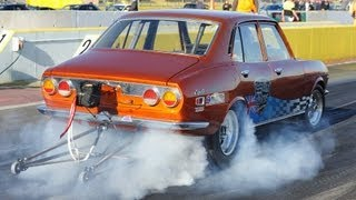 Mazda RX2 13B turbo runs 9s