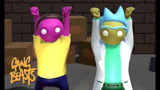 GANG BEASTS - Rick and Morty [WAVES] - Father and Son Gameplay