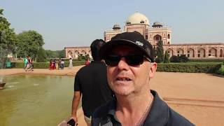 A Day in Delhi Sightseeing New Delhi Attractions India video 6 Humayuns Tomb India Gate Kutub Minar
