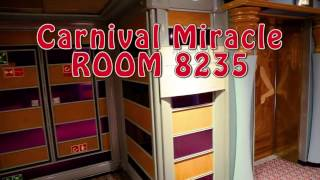 Carnival Miracle Room 8235 Premium Balcony almost a Suite