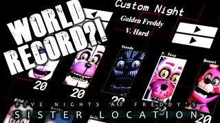 WORLD RECORD ON VERY HARD GOLDEN FREDDY?! | Sister Location