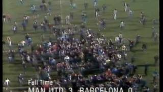 man united v barcelona 1984 european cup winners cup quarter finals second leg
