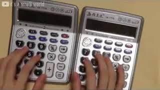 Despacito de Luis Fonsi ejecutada por dos calculadoras