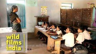 Classroom of Church Missionary Society School, Kerala