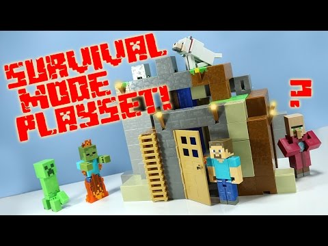 Minecraft Survival Mode Playset from Mattel Toys Huge