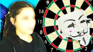 DART THROW TO FACE REVEAL HACKER GIRL