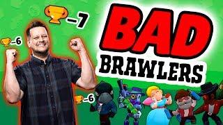 Brawl Stars: BATTLING WITH BAD BRAWLERS!