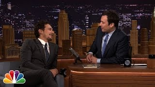 James Franco and Jimmy Fallon Talk Cowbell During Commercial Break
