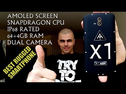 AGM X1 Review! BEST Rugged Smartphone/IP68/Samsung Amoled screen/4GB RAM/Snapdragon/Dual Camera