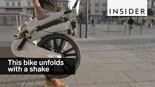 This bike unfolds with a shake