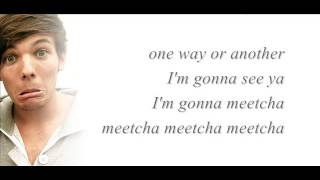 One Way Or Another-One Direction (Lyrics+Pictures)