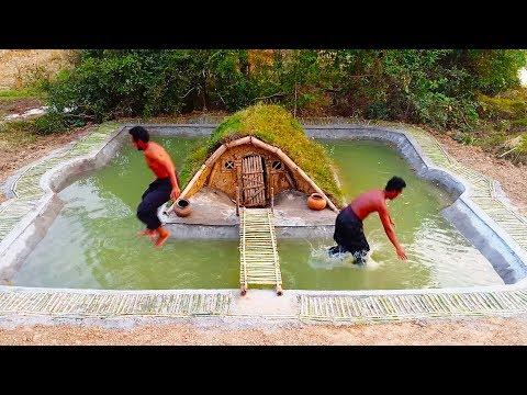 Building Spectacular Swimming Pool Around Underground House Full