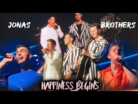 Jonas Brothers Happiness Begins Tour Miami 1st Show Front Row Pit Full Concert HD 08 07 19