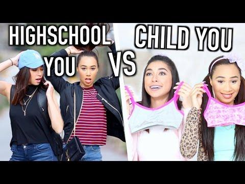 High School You VS Child You Jeanine Amapola & MyLifeAsEva