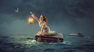 In The Sea - Photoshop manipulation Tutorial Light Effects
