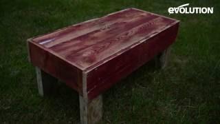 Evolution Fury 185mm Circular Saw : Make a rustic pallet bench!