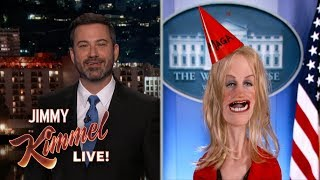 Jimmy Kimmel Talks to Kellyanne Conway About Trump Putin Meeting