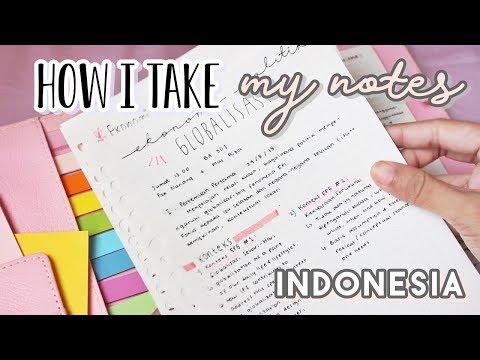 Catatan Kuliah | How I Take My Notes in University (INDONESIA) ♡