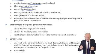 ACCA F4 Global - Company Law -  Company Secretary, Auditors