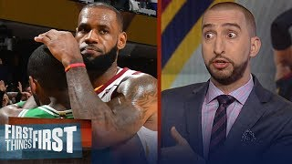 Nick Wright questions if Cavs losing Kyrie cost LeBron his 4th NBA title | NBA | FIRST THINGS FIRST