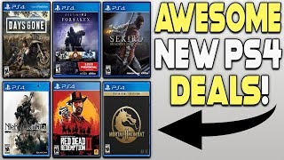 AWESOME NEW PS4 GAME DEALS - DAYS GONE, SEKIRO, RDR2, DMC 5 AND MORE!