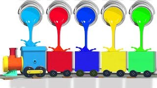 Colorful Trains For Kids   WonderBalls   Funny Cartoons For Children