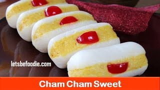 Diwali sweets/Indian sweet cham cham recipe/easy sweet dish recipe/homemade sweet- letsbefoodie.com