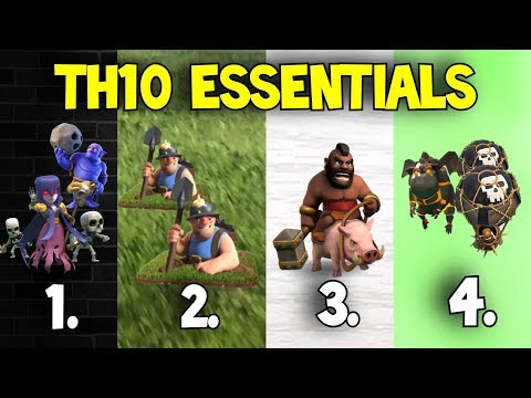 4 Go To Attack Strategies for TH10s Best 3 Star Methods