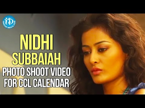 Nidhi Subbaiah Latest Hot Bikini Photo Shoot Video For CCL Calendar