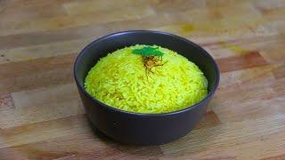 How to make Simple Saffron Rice