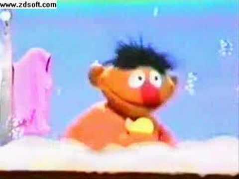 Vintage Sesame Street Rubber Ducky Ernie
