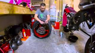 Five Minute Motorcycle Tire Change