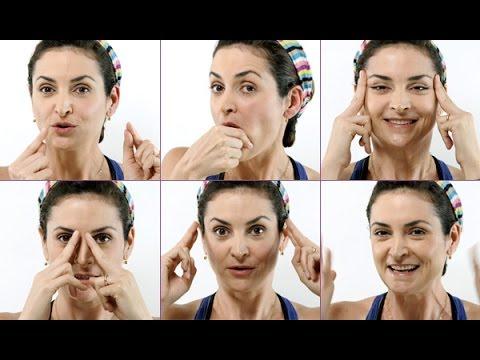 Exercícios de ginástica facial contra as rugas
